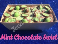 Mint Chocolate Swirl giant fudge loaf