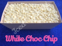 White Choc Chip giant fudge loaf