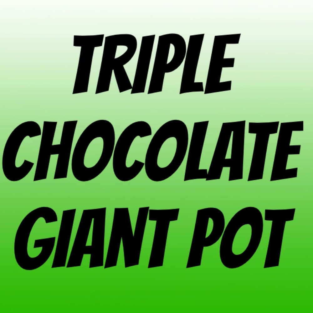NEW GIANT pot of fudge - Triple Chocolate