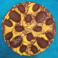 Creme Egg fudge pizza