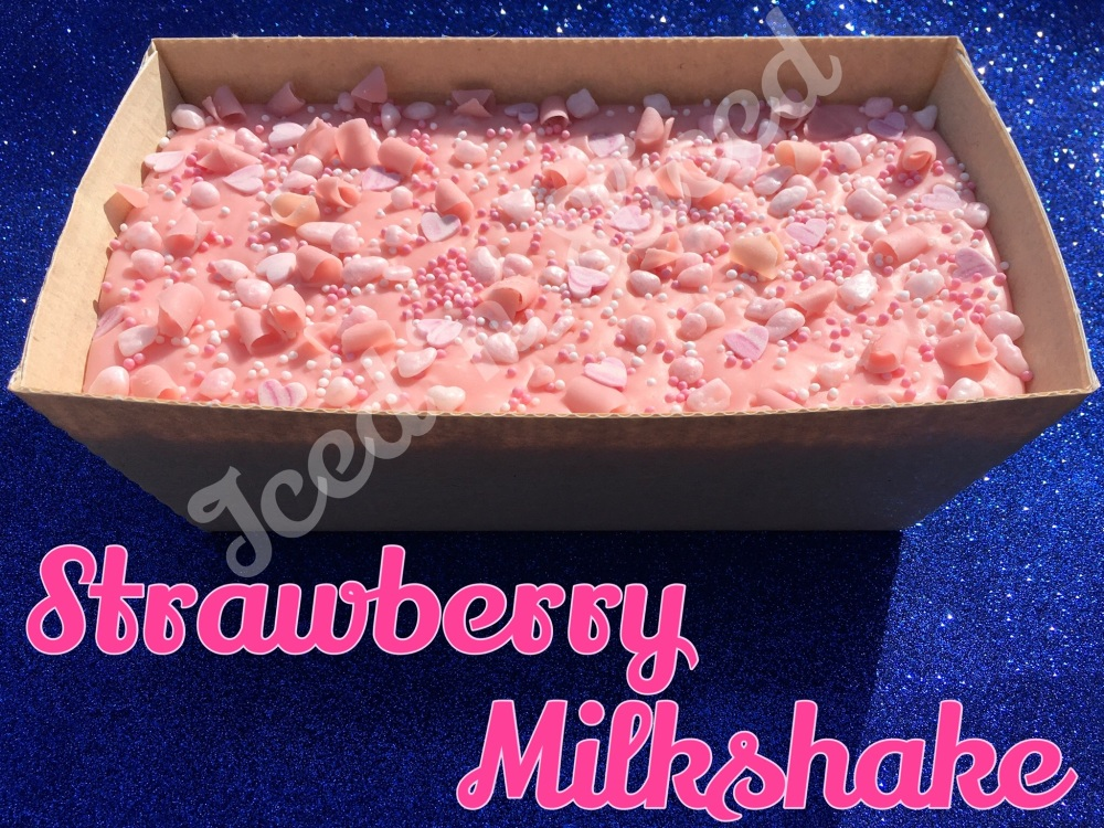 Strawberry Milkshake giant fudge loaf