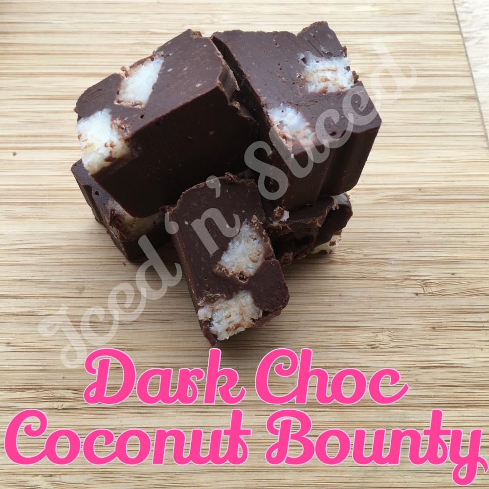 Dark Choc Coconut Bounty fudge pieces