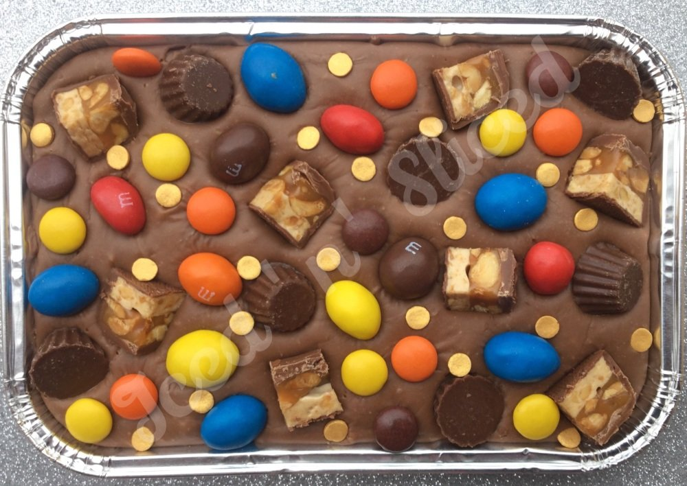 Perfect Peanuts fudge tray