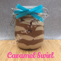 Caramel Swirl giant pot of fudge