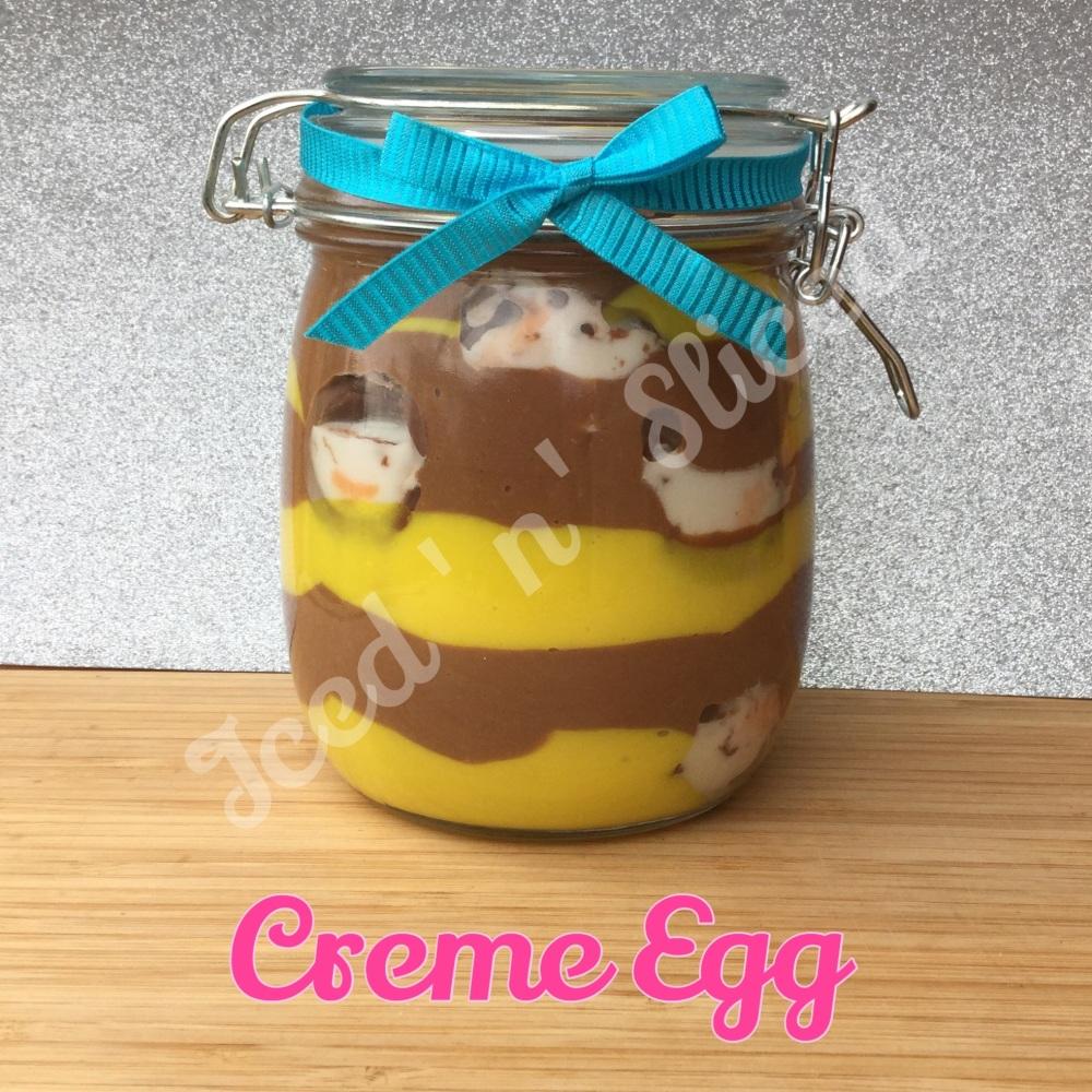 Creme Egg giant pot of fudge