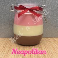Neapolitan giant pot of fudge