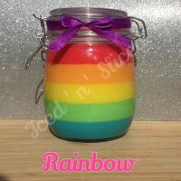 Rainbow giant pot of fudge