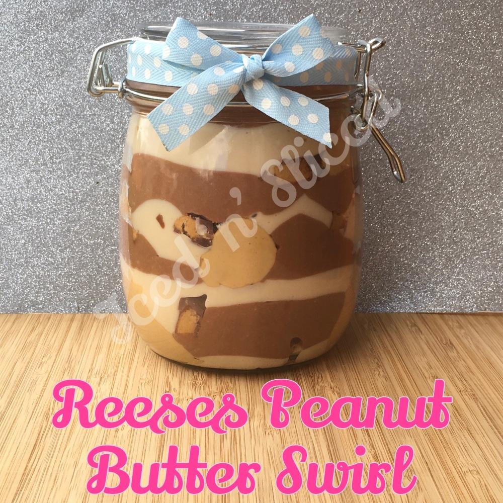Reeses Peanut Butter Swirl giant pot of fudge