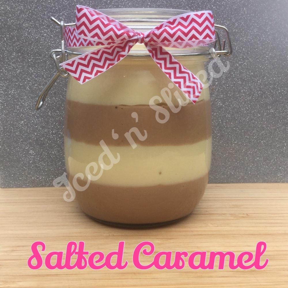 Salted Caramel giant pot of fudge