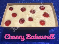 Cherry Bakewell giant fudge loaf