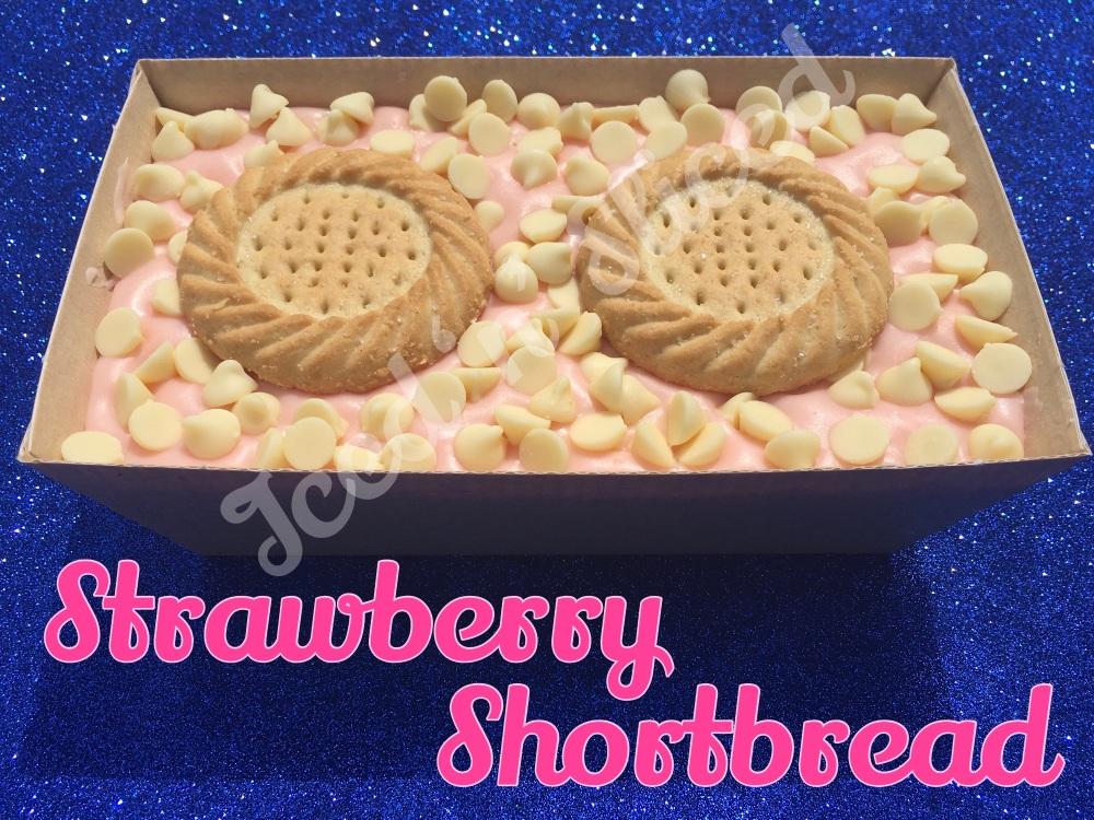 Strawberry Shortbread giant fudge loaf