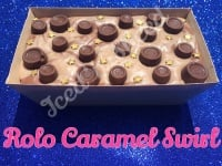 Rolo Caramel Swirl giant loaf of fudge
