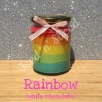 Rainbow little pot of fudge