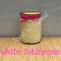 White Toblerone little pot of fudge