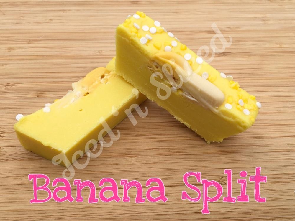 Banana Split mini fudge loaf
