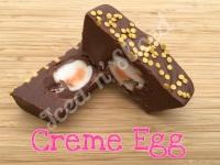 Creme Egg mini fudge loaf