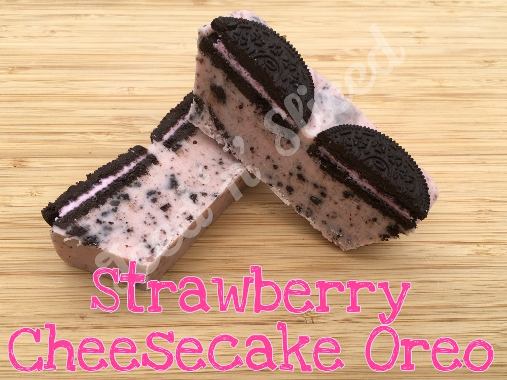 Strawberry Cheesecake Oreo mini fudge loaf