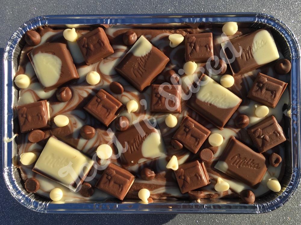 Milka fudge tray