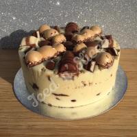 Kinder Krazy solid fudge cake