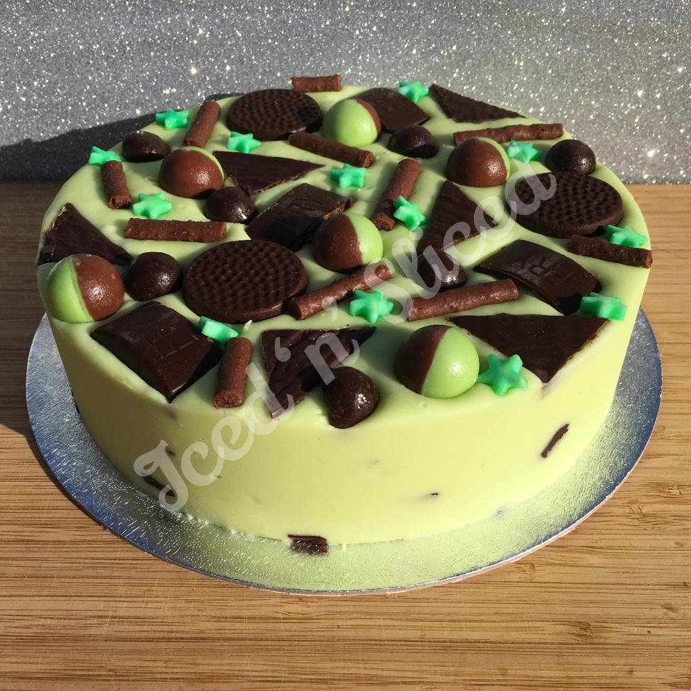 Mint Madness solid fudge cake