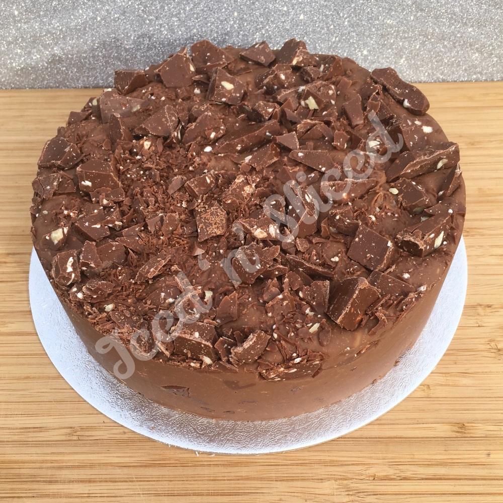 NEW Toblerone solid fudge cake
