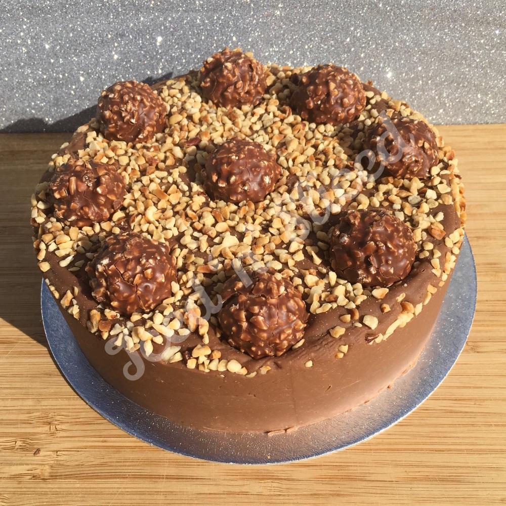 NEW Ferrero Nutella solid fudge cake