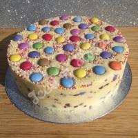 Smarties solid fudge cake