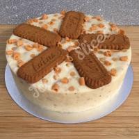 Biscoff solid fudge cake