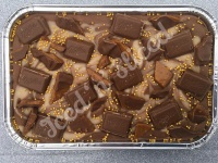 Milka Daim fudge tray