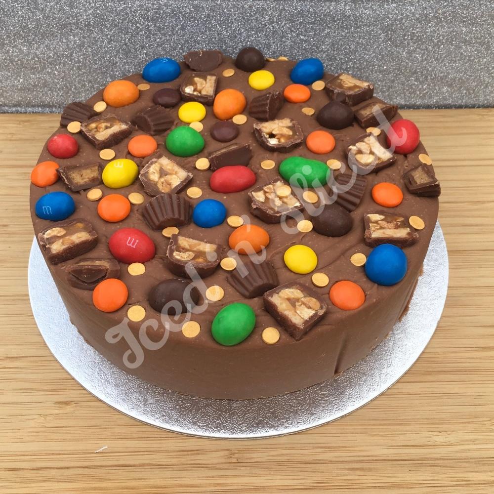 NEW Perfect Peanuts solid fudge cake