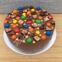 Perfect Peanuts solid fudge cake