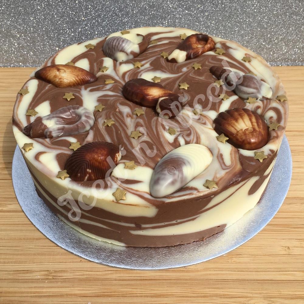 NEW Guylian solid fudge cake