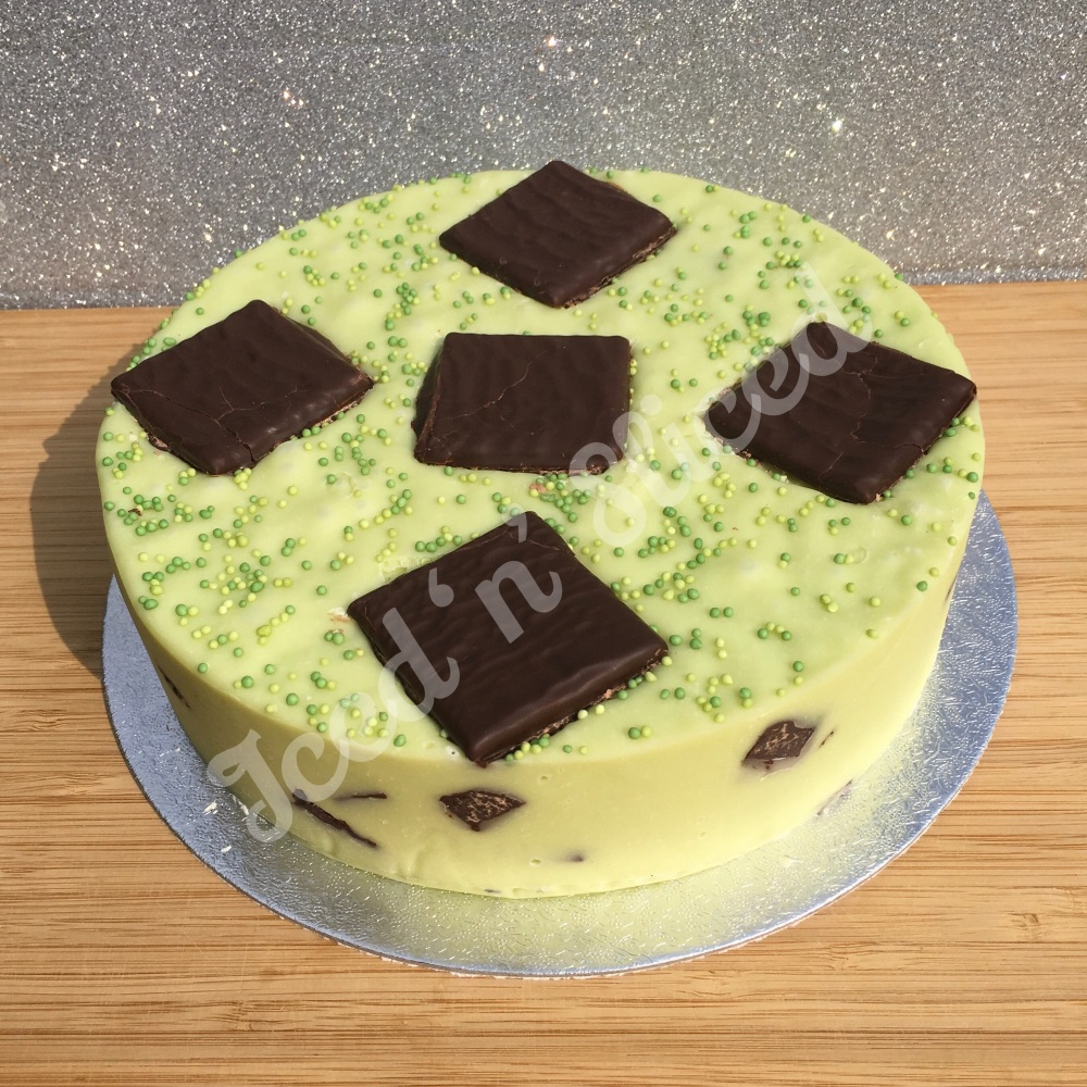 NEW After Eight solid fudge cake