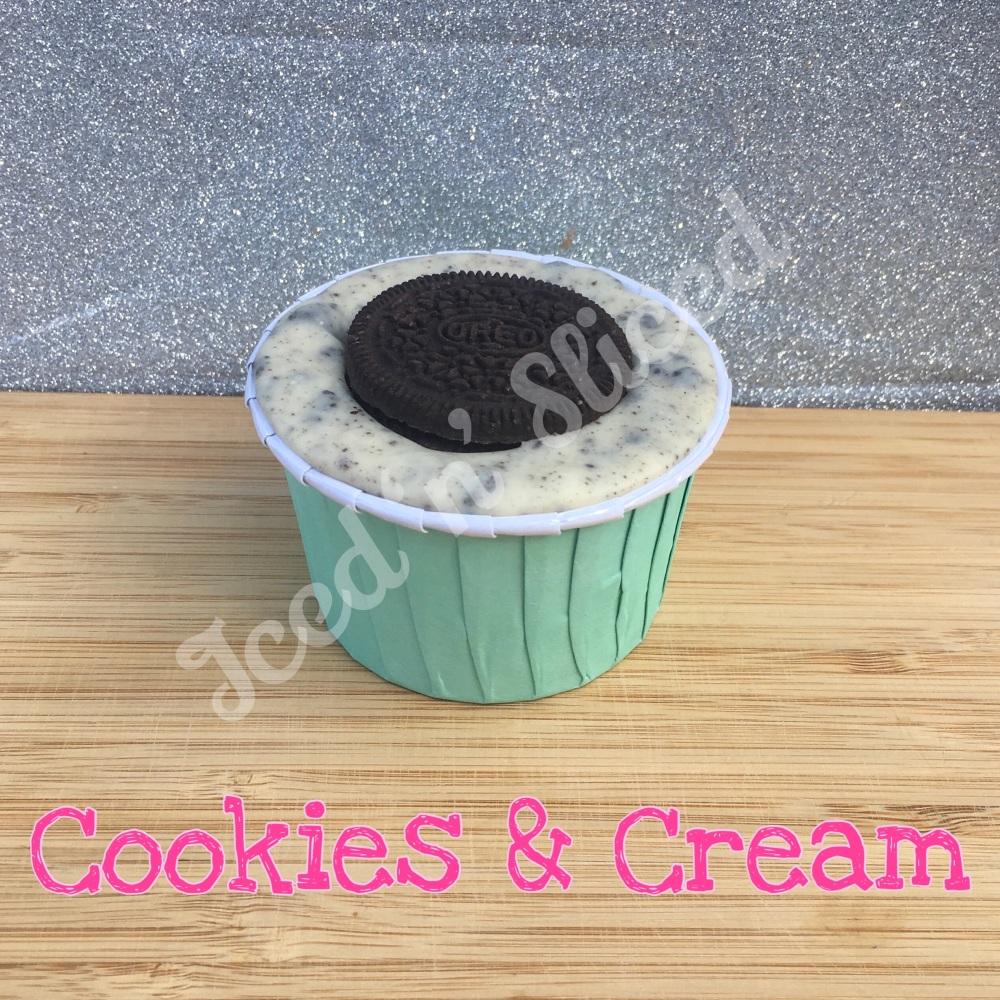 NEW Cookies & Cream fudge cup