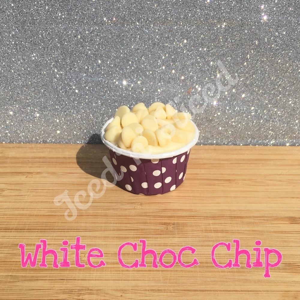 White Choc Chip mini fudge cup