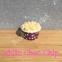 White Choc Chip mini fudge cup