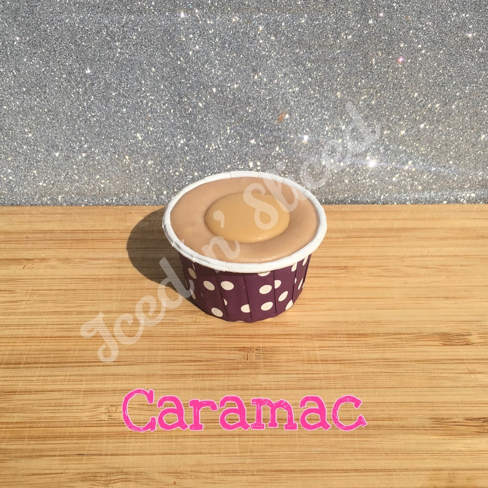Caramac mini fudge cup