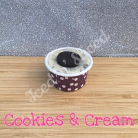 Cookies & Cream mini fudge cup