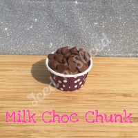 Milk Choc Chunk mini fudge cup