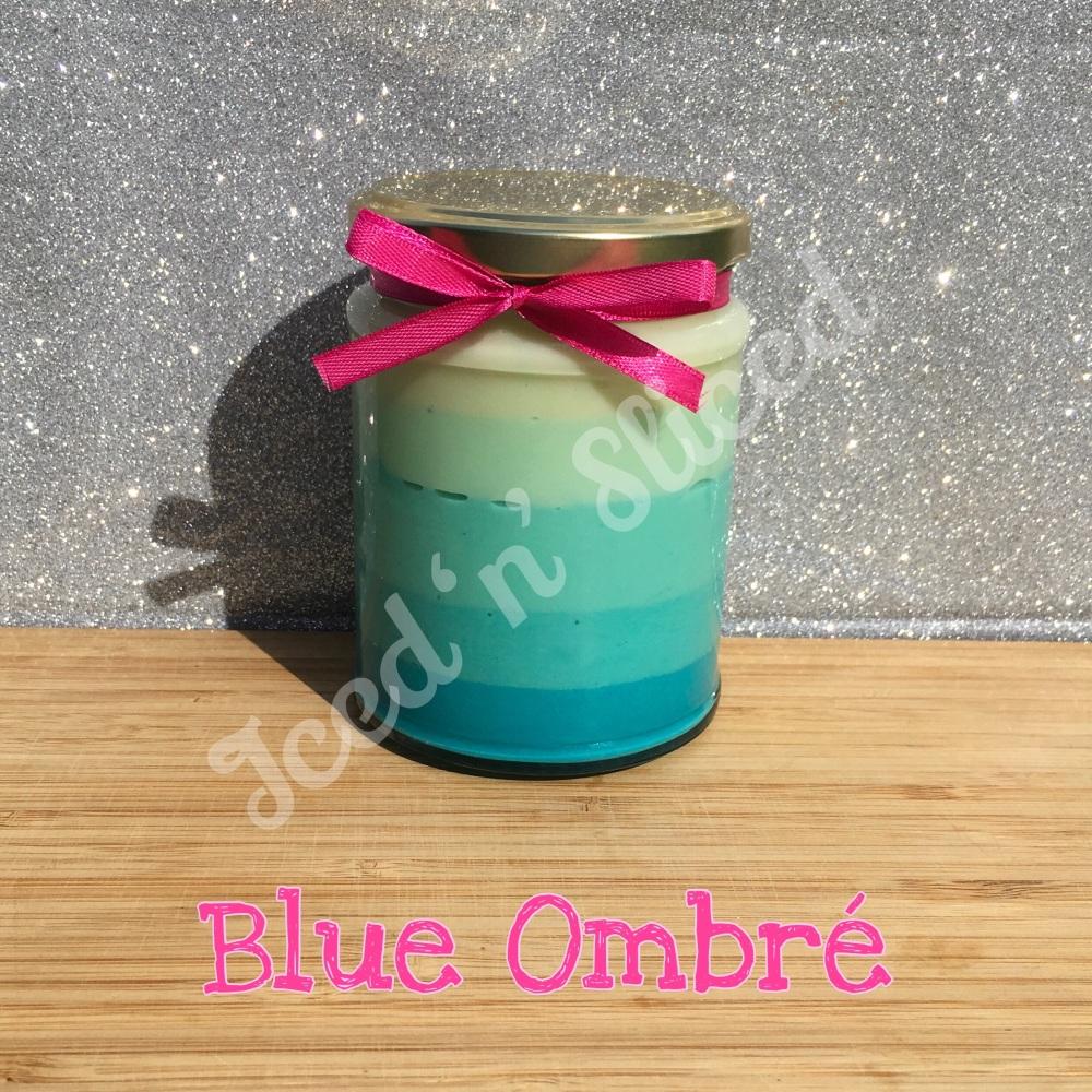 NEW JAR - Blue Ombré little pot of fudge