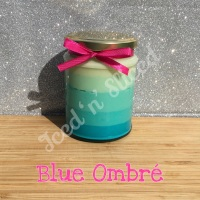 Blue Ombré little pot of fudge