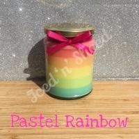 Pastel Rainbow little pot of fudge