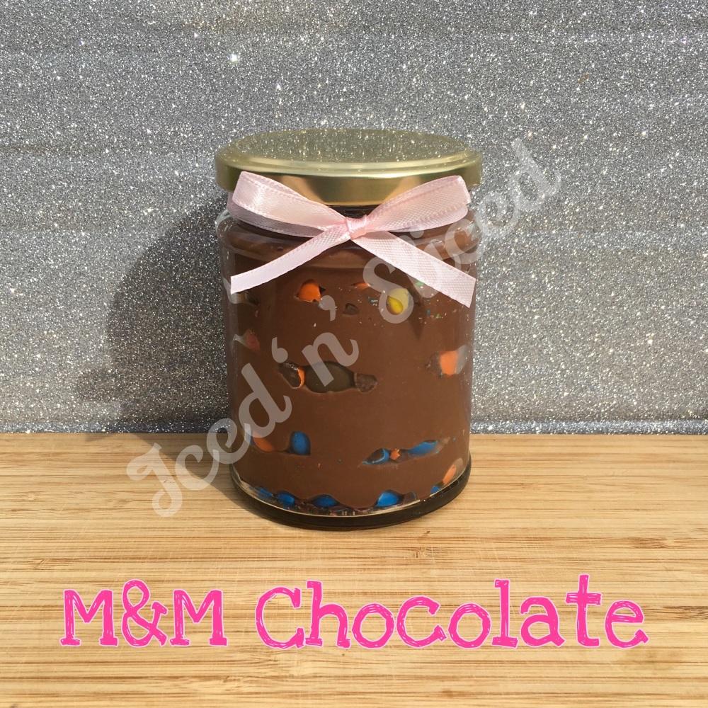 NEW M&M little pot of fudge