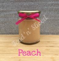 Peach little pot of fudge