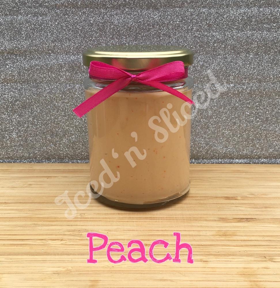 NEW JAR - Peach little pot of fudge