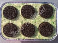 Mint Oreo fudge tray