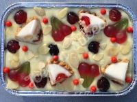 Cherry Bakewell fudge tray
