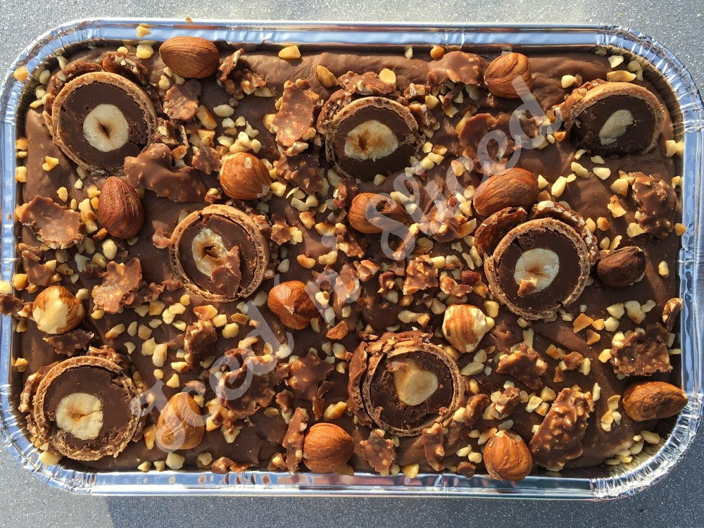 Nutella fudge tray