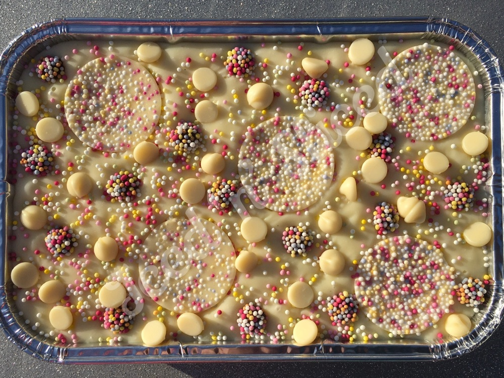 Vanilla Bean Sprinkles fudge tray
