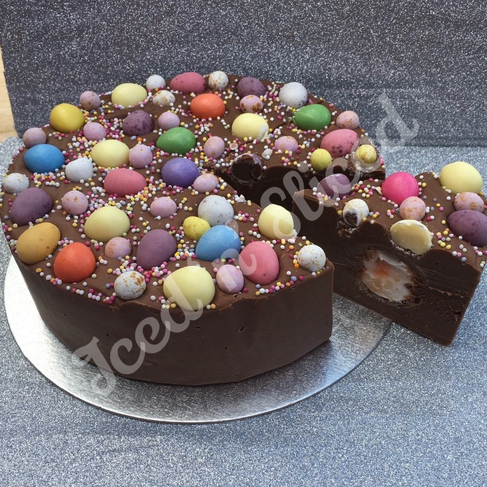 SALE - Eggsplosion solid fudge cake
